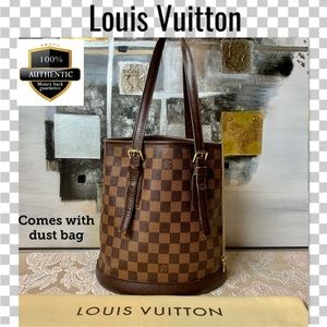 Louis Vuitton shoulder bag malle bucket damier